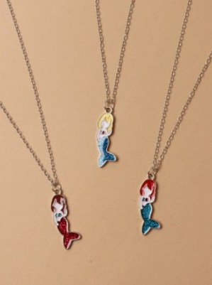 Mermaid pendant chain necklace (Code 3567)